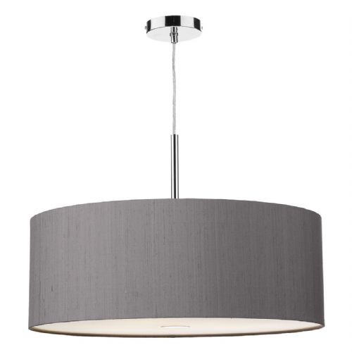 Ellington 60cm Pendant Light Chrome with Shade (choose colour) ELL17 (Hand made, 10-14 day Del)
